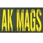 Ammo Can Magnet AK MAGS (Single Line) - Yellow Stencil .50Cal