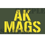 Ammo Can Magnet AK MAGS (Stacked) - Yellow Stencil .50Cal