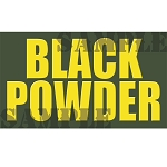 Ammo Can Magnet BLACK POWDER - Yellow Standard .50Cal