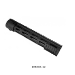 GunTec 12 Inch Thin Profile Free Floating Handguard With Removable Rails & Monolithic Top Rail (.308 Cal)