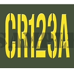 Ammo Can Sticker CR123A - Yellow Stencil .30Cal
