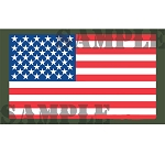 Ammo Can Sticker FLAG (Picture) -  .50Cal