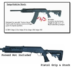 Saiga Field Series Tactical Butt Stock, Pistol Grip, and Recoil Pad (No Recoil Reduction System)