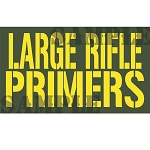 Ammo Can Magnet LARGE RIFLE PRIMERS - Yellow Stencil .50Cal