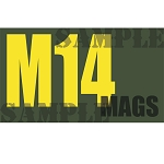 Ammo Can Magnet M14 MAGS - Yellow Standard .50Cal