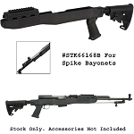 SKS T6 Adjustable Stock w/Spike Bayonet Cut -Black