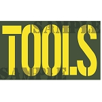 Ammo Can Sticker TOOLS - Yellow Stencil .50Cal
