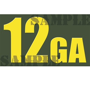 Ammo Can Sticker 12GA - Yellow Standard .50Cal