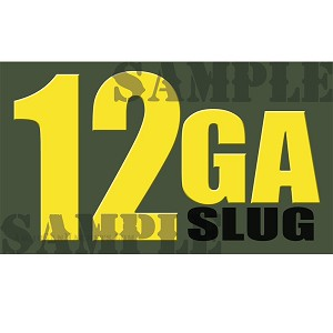 Ammo Can Magnet 12GA SLUG  - Yellow Standard .50Cal