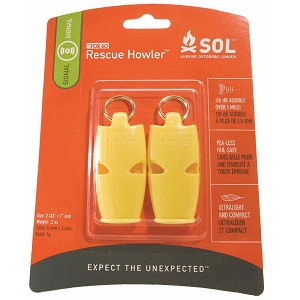 Survive Outdoors Longer Rescue Howler Whistle 2 Pack