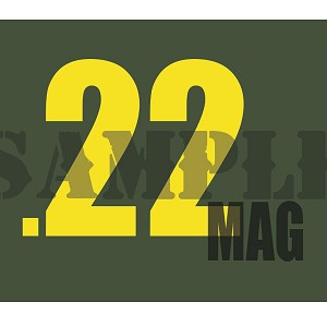Ammo Can Magnet  .22MAG - Yellow Standard .30Cal