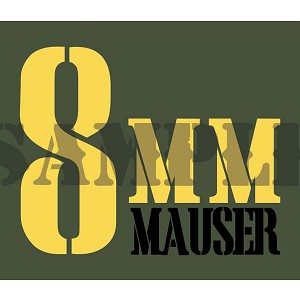 Ammo Can Magnet 8MM MAUSER  - Yellow Stencil .30Cal