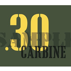 Ammo Can Magnet  .30 Carbine - Yellow Stencil .30Cal