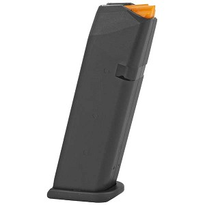 Glock 17 / 34 9MM 17 Round (For Gen 5 and Prior Gen.) OEM Magazine With Orange Follower  - Restricted Item - Check Your Local and State Laws Prior To Ordering