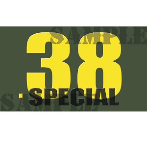 Ammo Can Magnet .38 SPECIAL  - Yellow Standard .50Cal