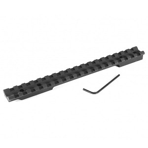 EGW Savage Flat Back Long Action Picatinny Scope Mount 20 MOA Ambidextrous