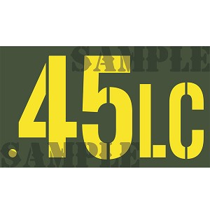 Ammo Can Magnet .45LC  - Yellow Stencil .50Cal