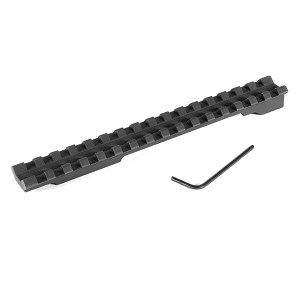 EGW Mauser 98 LR (3-Hole) Picatinny Rail Scope Mount 20 MOA Undrilled (Military)