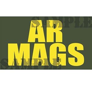 Ammo Can Magnet AR MAGS (Stacked)- Yellow Standard .50Cal
