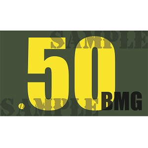 Ammo Can Magnet .50BMG  - Yellow Standard .50Cal