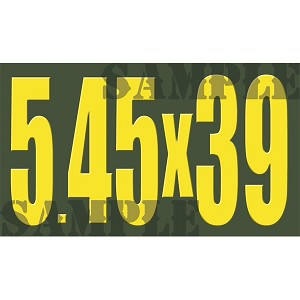 Ammo Can Magnet 5.45X39 - Yellow Standard .50Cal