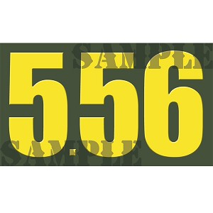 Ammo Can Sticker 5.56 - Yellow Standard .50Cal