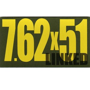 Ammo Can Magnet 7.62X51 LINKED - Yellow Standard .50Cal