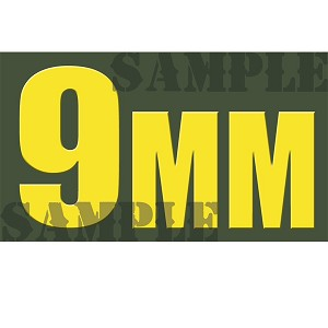 Ammo Can Sticker 9MM - Yellow Standard .50Cal
