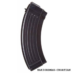 Croatian AK-47 30 Round Magazine With Bolt Hold Open -Restricted Item -Check Your Local and State Laws Prior To Ordering