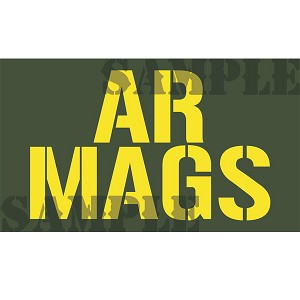 Ammo Can Magnet AR MAGS (Stacked)- Yellow Stencil .50Cal