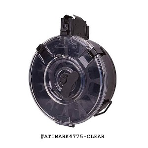 AK-47 75 Round Drum -Clear Plastic Back- Korean -Restricted Item -Check Your Local and State Laws Prior To Ordering