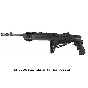 Adv Tech Ruger Mini-14 / Mini 30 Strikeforce Six Position Adjustable Side Folding TactLite Stock w/ Scorpion Recoil System