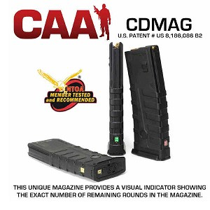 CAA AR-15 30 Round Countdown Polymer Mag / Shows Remaining Rounds -Restricted Item -Check Your Local and State Laws Prior To Ordering
