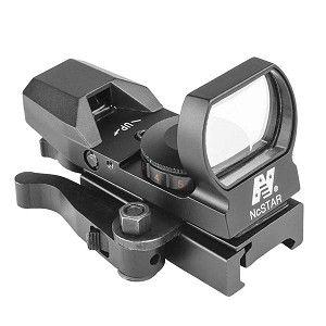 NcStar Red & Green Reflex Sight with 4 Reticles and QR Mount – Black