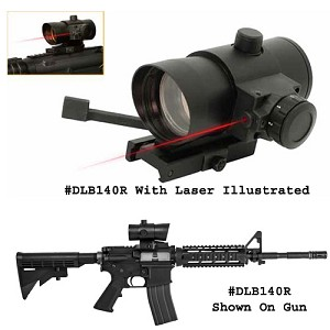 NcStar Tactical Red Dot Sight and Laser with QR Weaver Style Mount