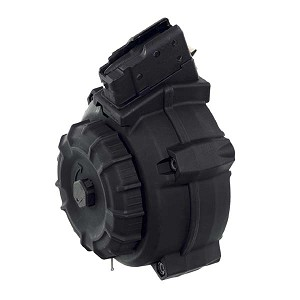 Promag AK-47 7.62x39mm 50 Round Black Polymer Drum -Restricted Item -Check Your Local and State Laws Prior To Ordering