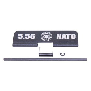 GunTec AR-15 Ejection Port Dust Cover Assembly Gen II W/Lasered 5.56 NATO W/GunTec Logo - Anodized Black