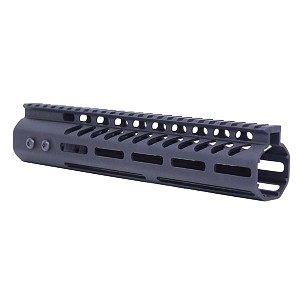 GunTec 10 Inch Ultra Lightweight Thin M-LOK Free Floating Handguard With Monolithic Top Rail .308 Cal - Black