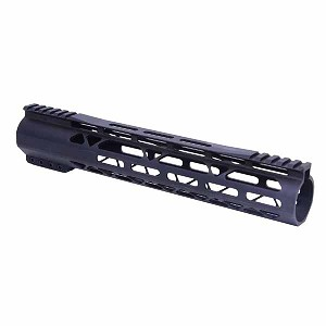 GunTec AR .308 12 Inch Air-Lok Series Compression Free Floating Handguard With Monolithic Top Rail .308 Cal Gen 2 -Anodized Black