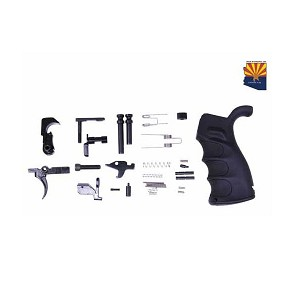 GunTec AR .308 Complete Lower Parts Kit With Ergonomic Pistol Grip (Less Lower Receiver)