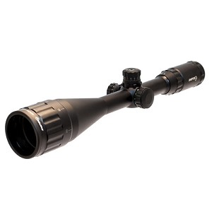 "Lion Gears 4-16x50 1"" Full-size Scope with Adjustable Objective, Quick Tactical Zero Locking/Resetting Target W/E, Red/Green/Blue Illuminated Mil-dot Reticle, 3.0"" Sunshade, Flip-up Lens Covers and Scope Rings"