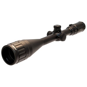 SNIPER 6-24x50 1 Inch Full-size Scope with Adjustable Objective, Quick Tactical Zero Locking/Resetting Target W/E, Red/Green/Blue Illuminated Mil-dot Reticle, 3.0 Inch Sunshade, Flip-up Lens Covers and Scope Rings