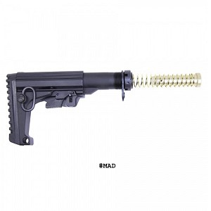 GunTec AR-15 M.A.D. Stock (Micro Aluminum Defense Stock)