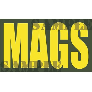 Ammo Can Magnet MAGS - Yellow Standard .50Cal