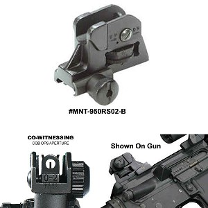 UTG AR-15 / M4 / M16 Complete Match-grade Rear Sight with Windage / Elevation Adjustment and Integral Picatinny Mounting Deck (NON Folding)