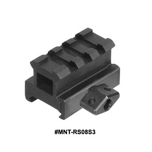 UTG Med-pro Compact Riser Mount, 0.83 Inch High, 3 Slots
