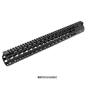 UTG PRO Keymod Compact M&P10 & DPMS Low Profile LR-308 15 Inch Super Slim Free Float Rail