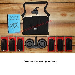 Mini-14 Ruger Mag Kit (20 Round Mags) + Drum -Restricted Item -Check Your Local and State Laws Prior To Ordering