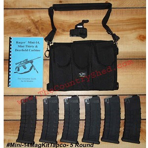 Mini-14 Tapco Mag Kit- 5 Round Mags -Restricted Item -Check Your Local and State Laws Prior To Ordering