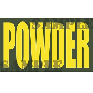 Ammo Can Magnet POWDER - Yellow Standard .50Cal